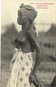 CPA Senegal Ethnic Nude Fortier - 1373. Étude N 52 Fille Soussou (70923)