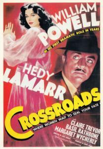 Crossroads William Powell Hedy Lamarr Film Spanish Cinema Poster Postcard