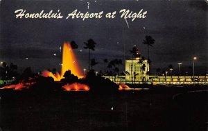Honolulu's airport at night Honolulu, Hawaii, USA Airplane 1965