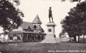 Burn's Monument, Fredericton, New Brunswick, Canada, PU-1909