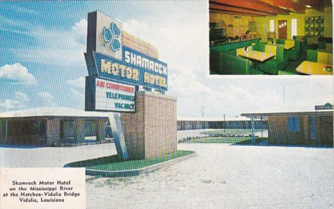Louisiana Vidalia Shamrock Motor Hotel With Coffee Shop and Lounge