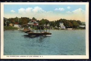 Hydroplane Landing at Lake George NY