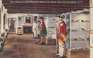 New York Fort Ticonderoga Main Museum In South Barracks Built By French 1755 ...