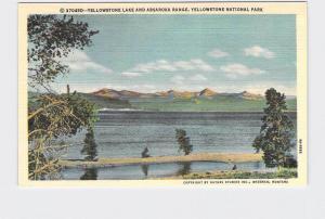 VINTAGE POSTCARD NATIONAL STATE PARK YELLOWSTONE LAKE AND ABSAROKA RANGE #1