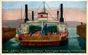Benicia, California - Ferryboat Solano - Largest in the World - Post Costa