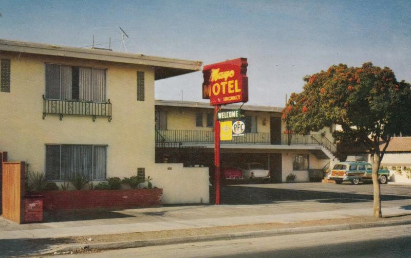 OAKLAND, California, 1940-60s; Mayo Hotel, U.S. Highway 50