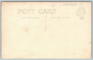 Ainsworth Iowa~Family in Vintage Automobile~Dad in Goggles~LP#22397~c1912 RPPC