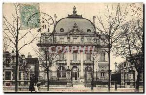 Old Postcard Bank Caisse d & # 39Epargne Troyes