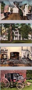 4 Handcolored Postcard  THE HERMITAGE Interiors  Nashville, Tennessee  TN
