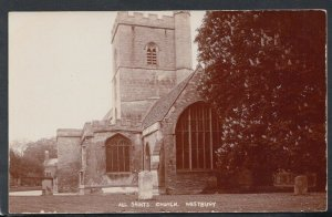 Wiltshire Postcard - All Saints Church, Westbury   RS13570