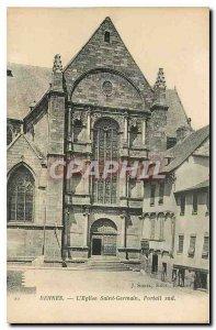 Old Postcard Rennes Saint Germain church south Portal
