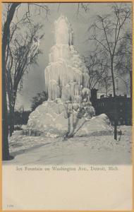 Detroit, Mich., Ice fountain on Washington Ave.