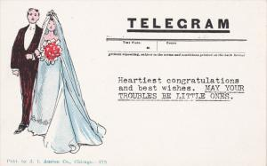Bride and Groom, Telegram, Heartiest congratulations and best wishes. MAY YO...