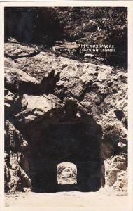 South Dakota Mount Rushmore Through Tunnel Real Photo