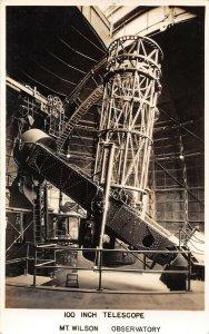 LPS29 Mt. Wilson California Observatory 100 Inch Telescope Postcard RPPC