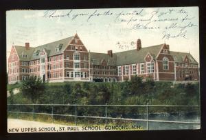 Concord, New Hampshire/NH Postcard, New Upper School, 1907!