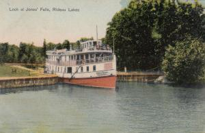 Lock at Jones' Falls at Rideau Lakes , Ontario, Canada, 1906; Rideau Queen
