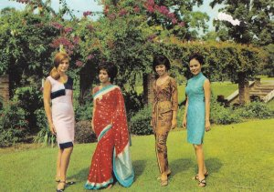 Malaysian Multicultural Society Penang Malaysia 1980s Racial Postcard