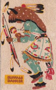 Pueblo Indian Buffalo Dancer Yucca Veneer Card