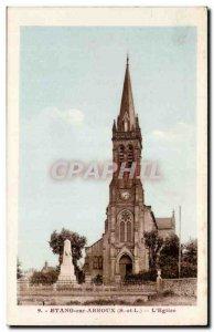 Pond on Arroux Old Postcard L & # 39eglise