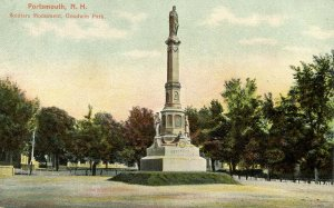 NH - Portsmouth. Goodwin Park Soldiers' Monument