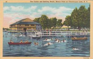 New York Chautauqua Lake The Casino And Bathing Beach Bemus Point On Chautauq...