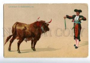139690 SPAIN Citando Banderillas Bullfighting TORERO Vintage