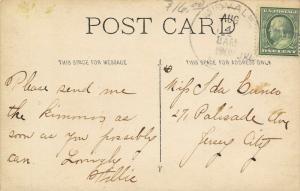 Midvale NJ~Villa Franchi Inn~Italian Restaurant~Guests~G Martinenghi~1909 RPPC