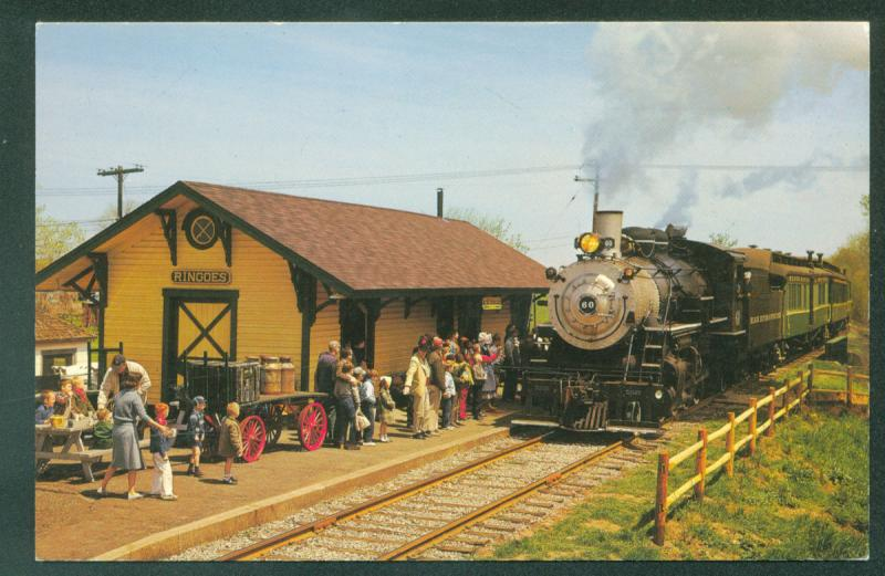 Black River & Western Ringoes New Jersey Passenger Coaches Railroad Postcard
