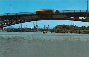 LPS80 Lorain Ohio Lorain's Bascule Bridge Black River Harbor Postcard