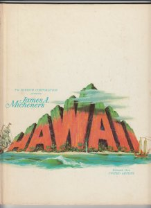 Hard Cover book about the movie HAWAII 1966, released by UNITED ARTISTS