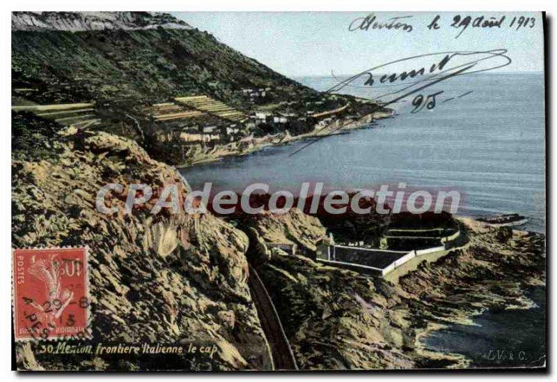 Old Postcard Menton Border Italian Cape Town