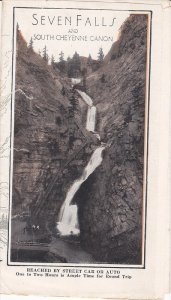 Pamphlet, 7-Views, Seven Falls and South Cheyenne Canon, Colorado Springs, Co...