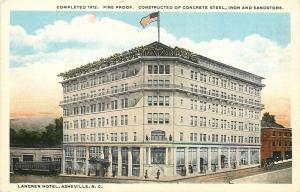 Asheville NC Built 1912, Demolished1964: Langren Hotel~Big Trolley~Roof Garden
