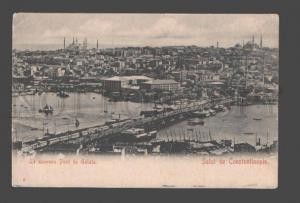 085198 TURKEY CONSTANTINOPLE Pont de Galata Vintage PC