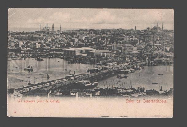 085198 TURKEY CONSTANTINOPLE Pont de Galata Vintage PC