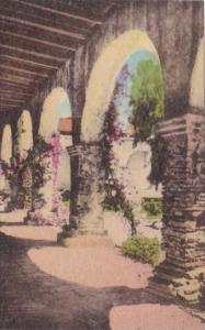 California San Juan Capistrano Front Corridor Of Padres Quarters Old Mission ...