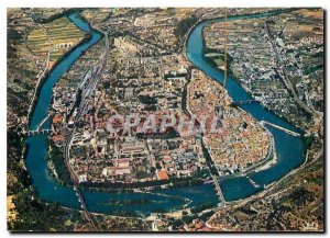 Postcard Modern Cahors in Quercy General Aerial view Loop Lot