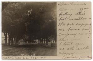 RPPC, Ashfield,  New Hampshire, View of Main Street, 1906