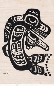 AS: C. B. Gruel, Killer Whale Totem Pole, Crests of the Haida Indians, Quee...