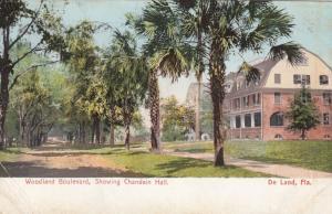 DE LAND , Florida , 1911 : Woodland Boulevard, Chandoin Hall
