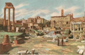 Artist A. Scrocchi Italy Rome Roma - Foro Romano