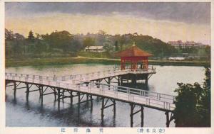 Bridge over water with pier , Japan , 00-10s
