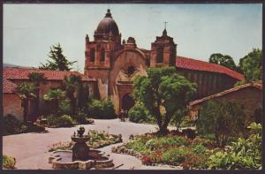 Mission San Carlos Borromeo,Carmel,CA Postcard BIN