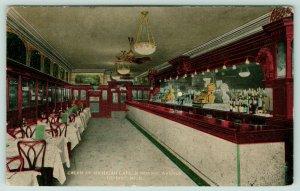 Detroit~Cream of Michigan~Gold Cash Registers~Liquor Bottles Behind Bar~c1910