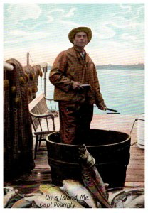 Maine Orr's Island  Capt. Doughty , load of fish
