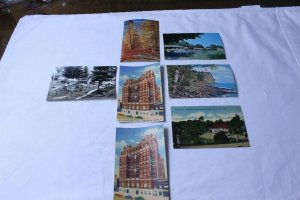 Lot of 7 Postcards Un-used Michigan Areas