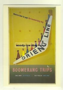 ad2200 - Orient Line , Boomerang Trips - modern poster advert postcard