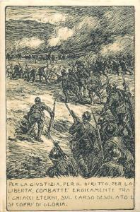 Soldati della 3a Armata MAZZONI GIUSEPPE Signed franchise correspondence justice