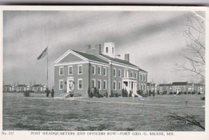 Maryland Fort George G Meade Post Headquarters and Officers Row